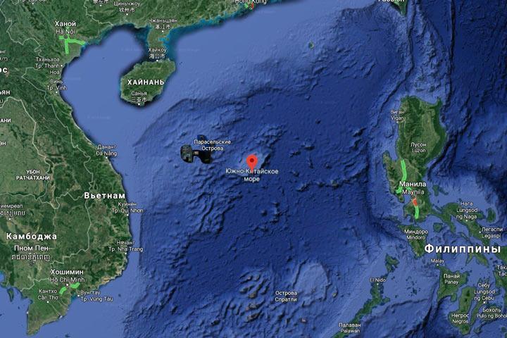 в Южно-Китайском море зафиксирован сильнейший подводный взрыв