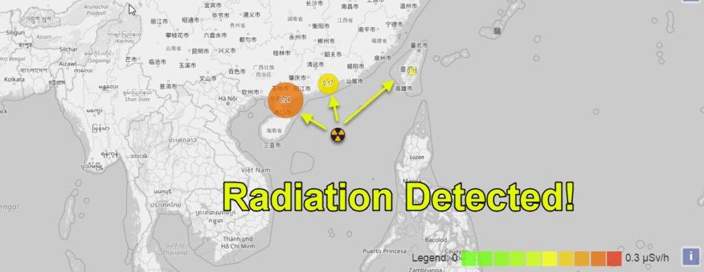 взрыв в Южно-китайском море зафиксировано повышение уровня радиации