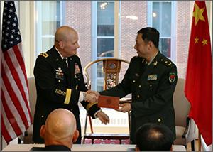 Китай и США договорились провести  совместные военные учения