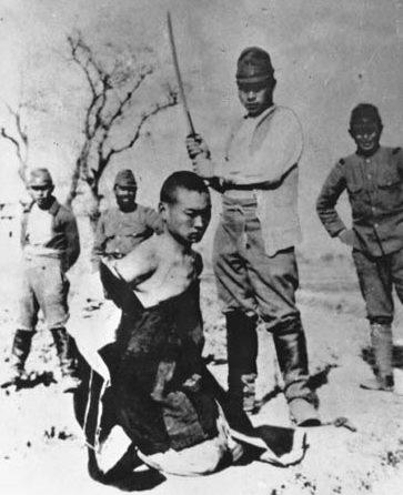 Японские военнослужащие казнят китайцев нанкинская резня