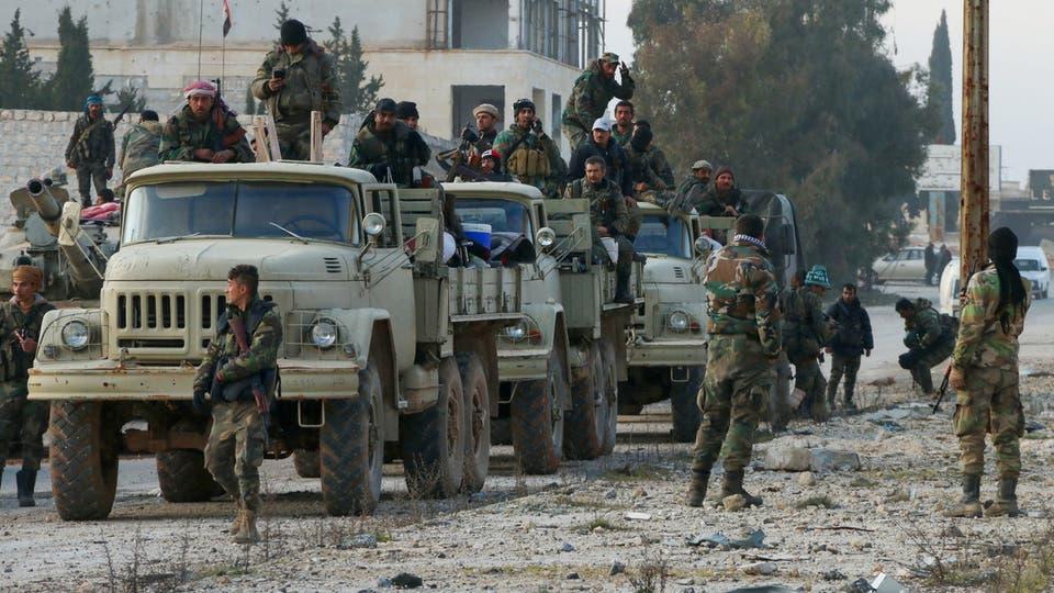 Подразделения 4 дивизии Сирийской Арабской Армии