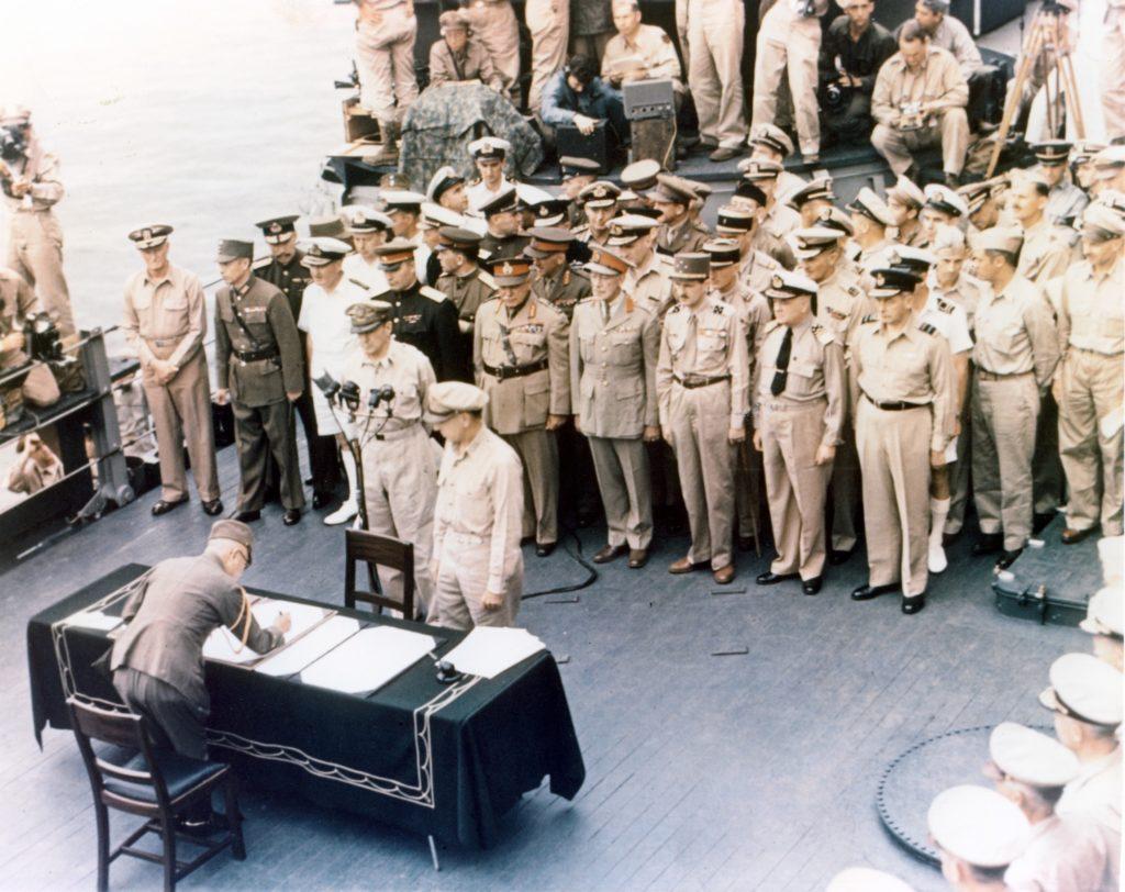 Капитуляция Японии. 2 сентября 1945 года
